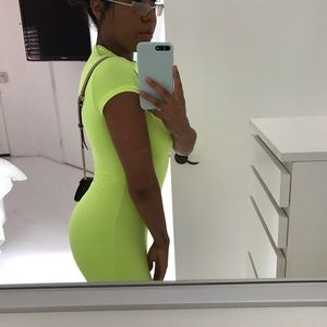 neon green mini dress